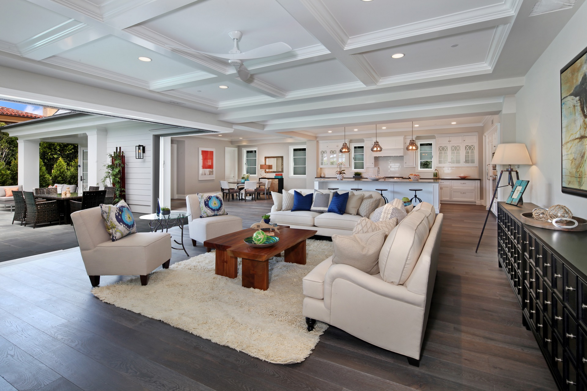 Corona Del Mar, CA Beach Style Living Room