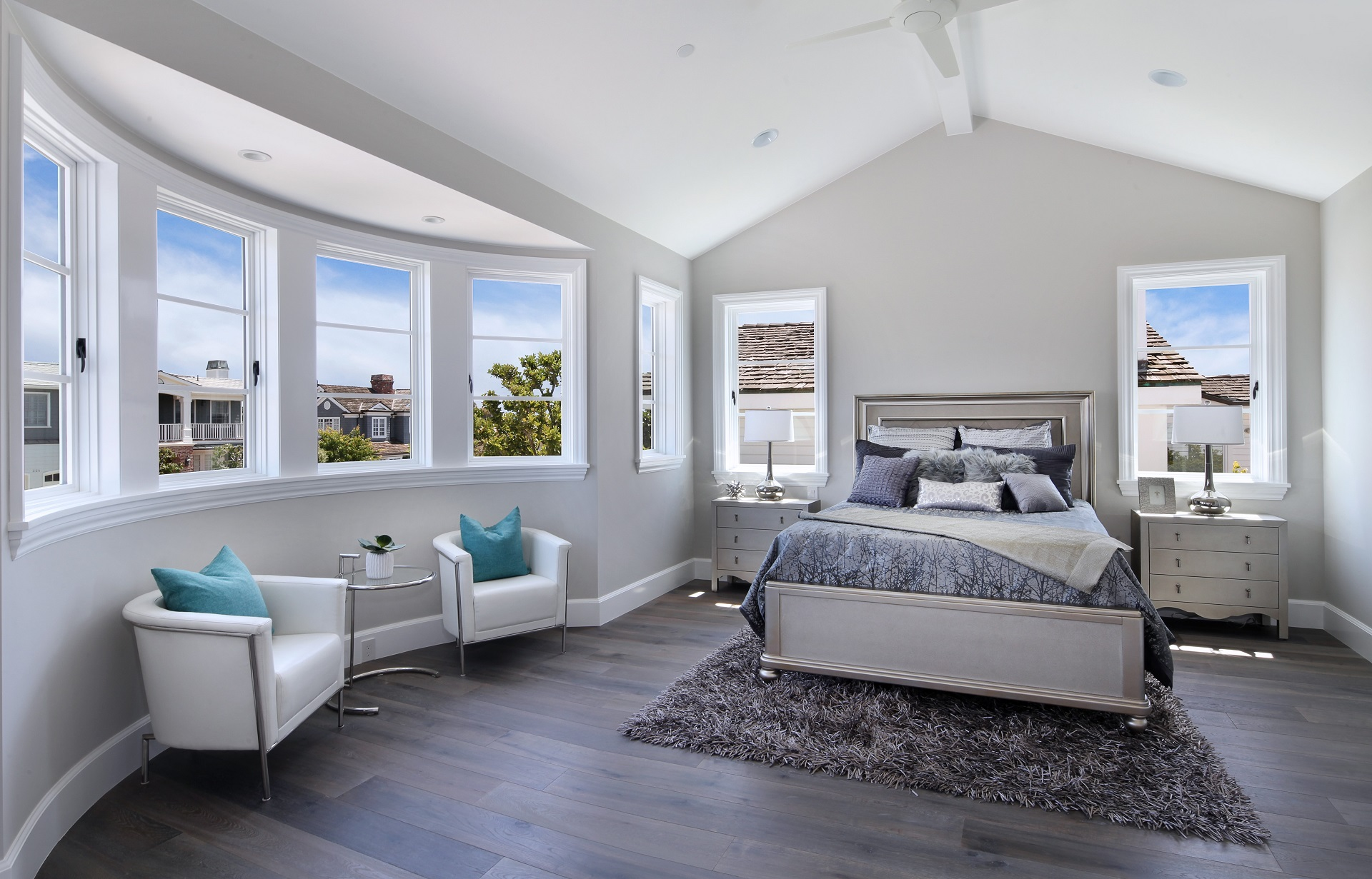 Modern Glamour Bedroom - Orange County, CA
